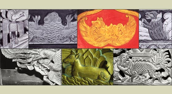 Representations of creatures appearing on palace gamelans