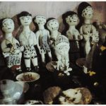 Fetishes figures of local Abosom, located in the house of the senior Akomfo
